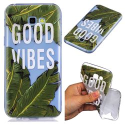 Good Vibes Banana Leaf Super Clear Soft TPU Back Cover for Samsung Galaxy A5 2017 A520