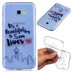 Line Castle Super Clear Soft TPU Back Cover for Samsung Galaxy A5 2017 A520
