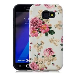 Rose Flower Pattern 2 in 1 PC + TPU Glossy Embossed Back Cover for Samsung Galaxy A5 2017 A520