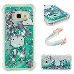 Tiny Unicorn Dynamic Liquid Glitter Sand Quicksand Star TPU Case for Samsung Galaxy A5 2017 A520