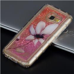Lotus Glassy Glitter Quicksand Dynamic Liquid Soft Phone Case for Samsung Galaxy A5 2017 A520