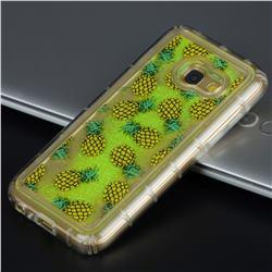 Pineapple Glassy Glitter Quicksand Dynamic Liquid Soft Phone Case for Samsung Galaxy A5 2017 A520