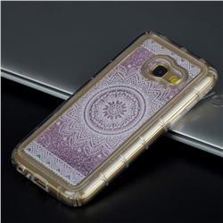 Mandala Glassy Glitter Quicksand Dynamic Liquid Soft Phone Case for Samsung Galaxy A5 2017 A520