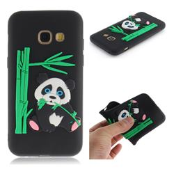 Panda Eating Bamboo Soft 3D Silicone Case for Samsung Galaxy A5 2017 A520 - Black