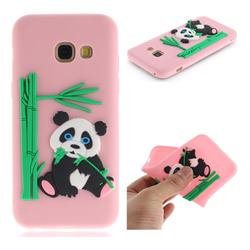 Panda Eating Bamboo Soft 3D Silicone Case for Samsung Galaxy A5 2017 A520 - Pink