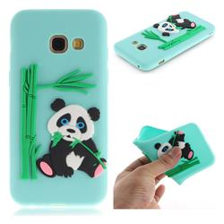 Panda Eating Bamboo Soft 3D Silicone Case for Samsung Galaxy A5 2017 A520 - Green