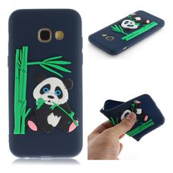 Panda Eating Bamboo Soft 3D Silicone Case for Samsung Galaxy A5 2017 A520 - Dark Blue