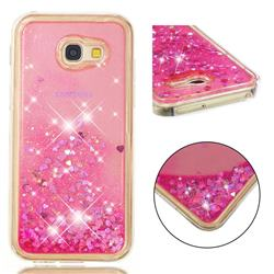 Dynamic Liquid Glitter Quicksand Sequins TPU Phone Case for Samsung Galaxy A5 2017 A520 - Rose