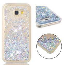 Dynamic Liquid Glitter Quicksand Sequins TPU Phone Case for Samsung Galaxy A5 2017 A520 - Silver