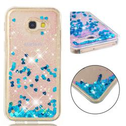 Dynamic Liquid Glitter Quicksand Sequins TPU Phone Case for Samsung Galaxy A5 2017 A520 - Blue