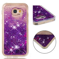 Dynamic Liquid Glitter Quicksand Sequins TPU Phone Case for Samsung Galaxy A5 2017 A520 - Purple