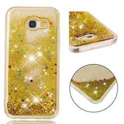 Dynamic Liquid Glitter Quicksand Sequins TPU Phone Case for Samsung Galaxy A5 2017 A520 - Golden