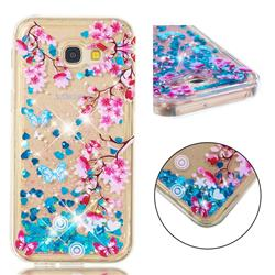 Blue Plum Blossom Dynamic Liquid Glitter Quicksand Soft TPU Case for Samsung Galaxy A5 2017 A520