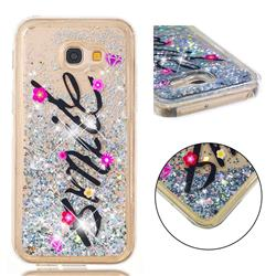 Smile Flower Dynamic Liquid Glitter Quicksand Soft TPU Case for Samsung Galaxy A5 2017 A520