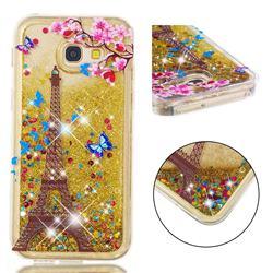 Golden Tower Dynamic Liquid Glitter Quicksand Soft TPU Case for Samsung Galaxy A5 2017 A520