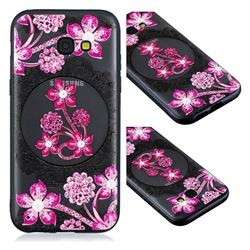 Daffodil Lace Diamond Flower Soft TPU Back Cover for Samsung Galaxy A5 2017 A520
