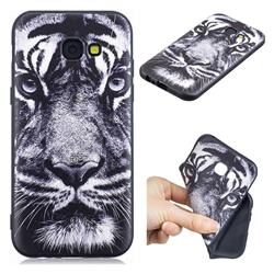 White Tiger 3D Embossed Relief Black TPU Cell Phone Back Cover for Samsung Galaxy A5 2017 A520