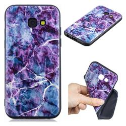 Marble 3D Embossed Relief Black TPU Cell Phone Back Cover for Samsung Galaxy A5 2017 A520