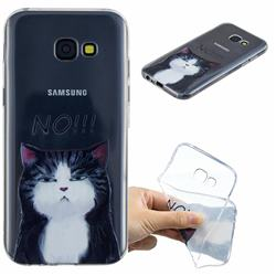 Cat Say No Clear Varnish Soft Phone Back Cover for Samsung Galaxy A5 2017 A520
