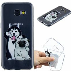 Selfie Dog Clear Varnish Soft Phone Back Cover for Samsung Galaxy A5 2017 A520