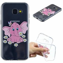 Tiny Pink Elephant Clear Varnish Soft Phone Back Cover for Samsung Galaxy A5 2017 A520