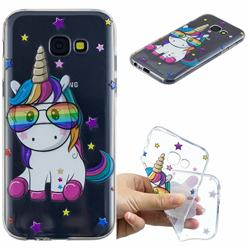 Glasses Unicorn Clear Varnish Soft Phone Back Cover for Samsung Galaxy A5 2017 A520