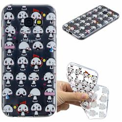 Mini Panda Clear Varnish Soft Phone Back Cover for Samsung Galaxy A5 2017 A520