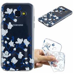 Magnolia Flower Clear Varnish Soft Phone Back Cover for Samsung Galaxy A5 2017 A520