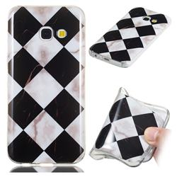 Black and White Matching Soft TPU Marble Pattern Phone Case for Samsung Galaxy A5 2017 A520