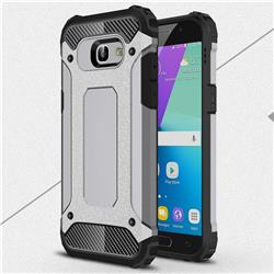 King Kong Armor Premium Shockproof Dual Layer Rugged Hard Cover for Samsung Galaxy A5 2017 A520 - Silver Grey