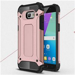 King Kong Armor Premium Shockproof Dual Layer Rugged Hard Cover for Samsung Galaxy A5 2017 A520 - Rose Gold