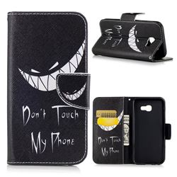 Crooked Grin Leather Wallet Case for Samsung Galaxy A5 2017 A520