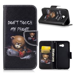 Chainsaw Bear Leather Wallet Case for Samsung Galaxy A5 2017 A520