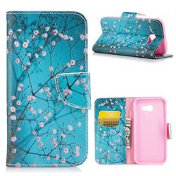 Blue Plum Leather Wallet Case for Samsung Galaxy A5 2017 A520