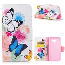 Vivid Flying Butterflies Leather Wallet Case for Samsung Galaxy A5 2017 A520