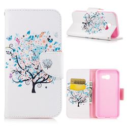 Colorful Tree Leather Wallet Case for Samsung Galaxy A5 2017 A520