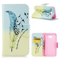 Feather Bird Leather Wallet Case for Samsung Galaxy A5 2017 A520
