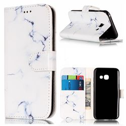 Soft White Marble PU Leather Wallet Case for Samsung Galaxy A5 2017 A520