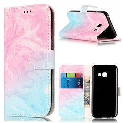 Pink Green Marble PU Leather Wallet Case for Samsung Galaxy A5 2017 A520