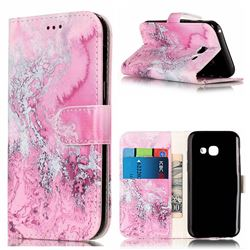 Pink Seawater PU Leather Wallet Case for Samsung Galaxy A5 2017 A520