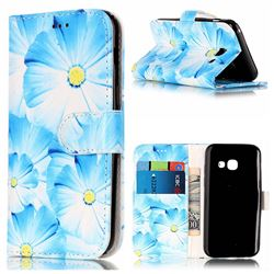 Orchid Flower PU Leather Wallet Case for Samsung Galaxy A5 2017 A520