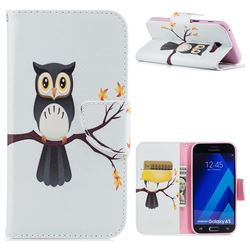 Owl on Tree Leather Wallet Case for Samsung Galaxy A5 2017 A520
