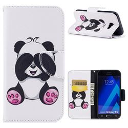 Lovely Panda Leather Wallet Case for Samsung Galaxy A5 2017 A520