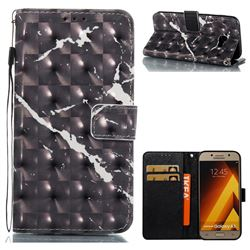 Black Marble 3D Painted Leather Wallet Case for Samsung Galaxy A5 2017 A520