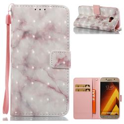 Beige Marble 3D Painted Leather Wallet Case for Samsung Galaxy A5 2017 A520