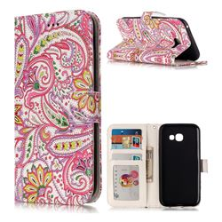 Pepper Flowers 3D Relief Oil PU Leather Wallet Case for Samsung Galaxy A5 2017 A520