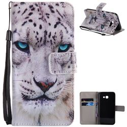 White Leopard PU Leather Wallet Case for Samsung Galaxy A5 2017 A520