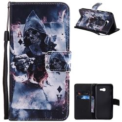 Skull Magician PU Leather Wallet Case for Samsung Galaxy A5 2017 A520
