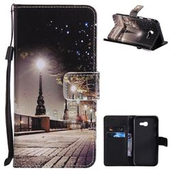 City Night View PU Leather Wallet Case for Samsung Galaxy A5 2017 A520