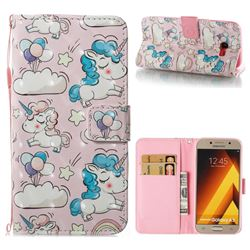 Angel Pony 3D Painted Leather Wallet Case for Samsung Galaxy A5 2017 A520